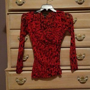 INC Women's Vneck Long Sleeved Shirt